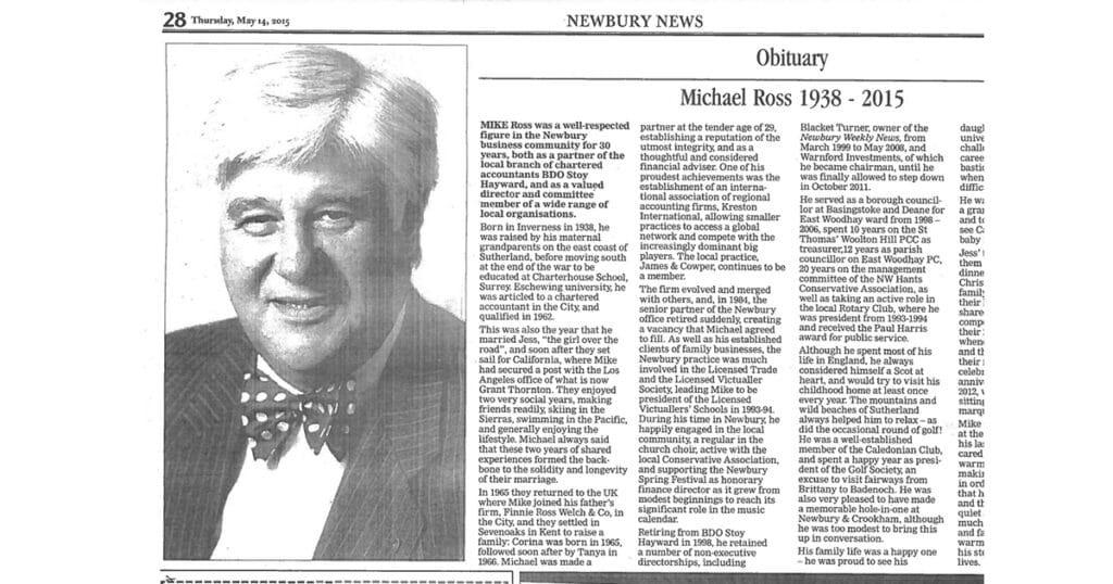 Mike Ross obituary