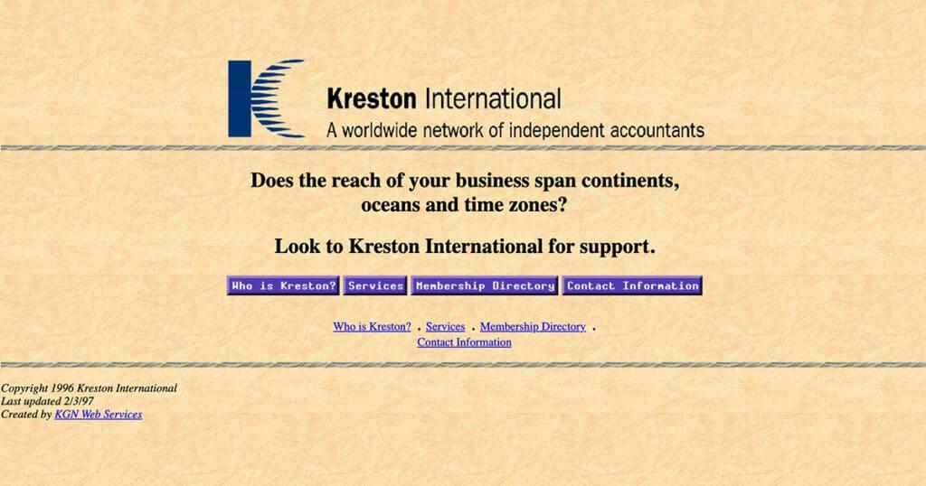 Kreston's first website