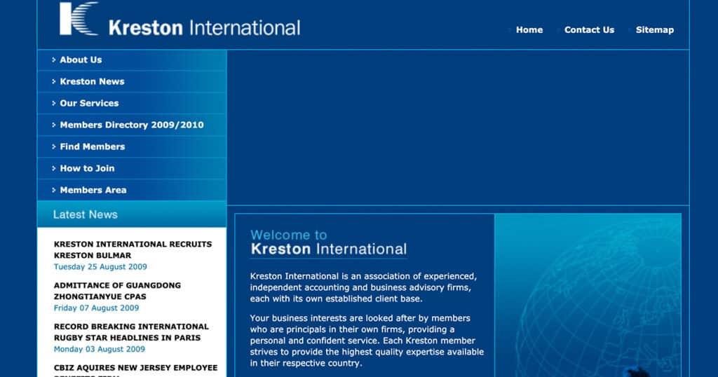 New modern Kreston website
